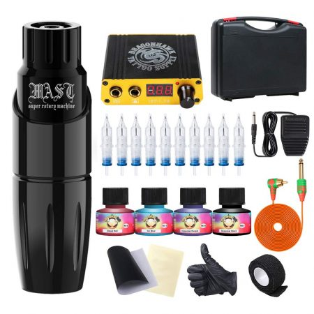 Dragonhawk Rotary Tattoo Pen Machine Kit