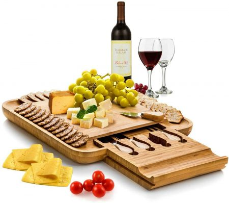 Bambusi Cheese Board And Knife Set