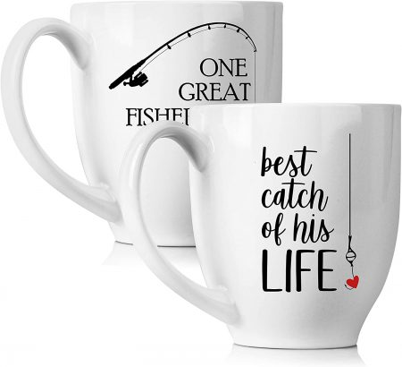 One Great Fisherman Best Catch Of His Life Coffee Mugs Set