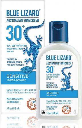 Protetor solar australiano lagarto azul