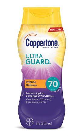 Loção protetor solar de edição limitada Coppertone ULTRA GUARD SPF 70