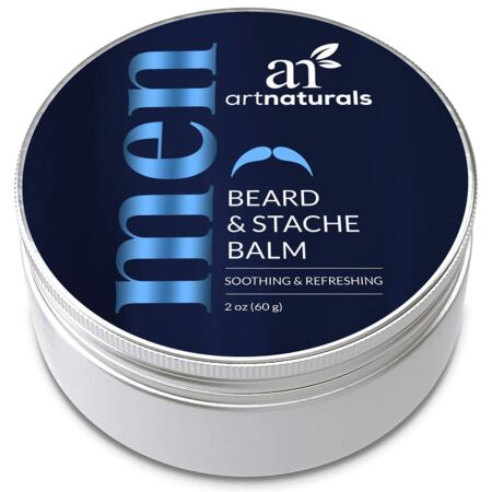 ArtNaturals Mustache And Beard Balm (2 Oz 60g) Natural Hair Wax Oil Leave In Conditioner That Soothes Itching