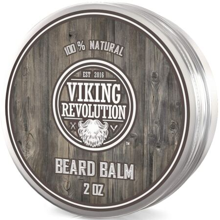 Viking Revolution Beard Balm All Natural Grooming Treatment With Argan Oil & Mango Butter