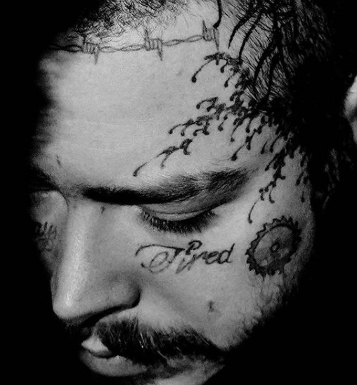 12 Sunflower Tattoo On Right Cheek