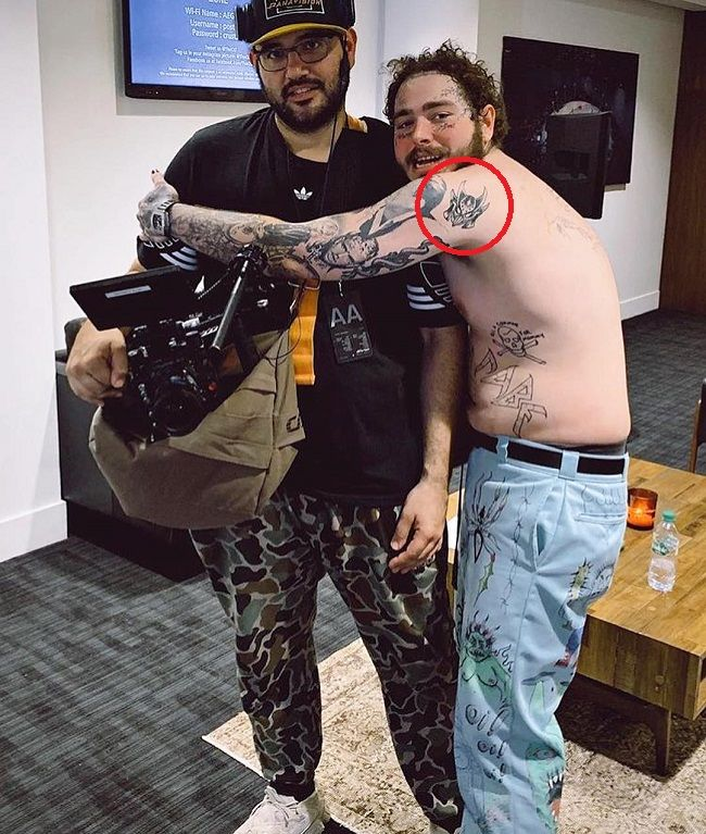 59 Post Malone Miraak Mask Tattoo