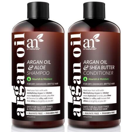 ArtNaturals Beard Shampoo And Conditioner Set All Skin And Hair Types