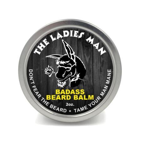 Badass Beard Care Beard Balm The Ladies Man Scent, 2 Ounce