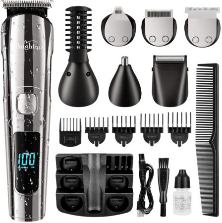 Brightup Beard Trimmer, Cordless Hair Clippers Hair Trimmer For Men