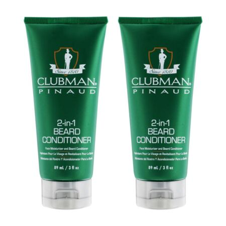 Clubman Pinaud 2 In 1 Beard Conditioner And Face Moisturizer, 3 Oz X 2 Pack