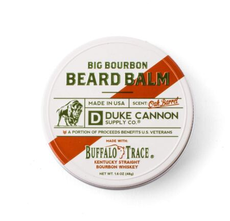 Duke Cannon Supply Co. Big Bourbon Beard Balm, Bourbon Oak Barrel (1.6 Oz), Made With Buffalo Trace
