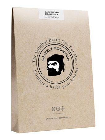 Grizzly Mountain Beard Dye Organic & Natural Dark Brown Beard Dye