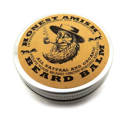 Honest Amish Beard Balm Leave In Conditioner Made With Only Natural And Organic Ingredients 2 Ounce Tin