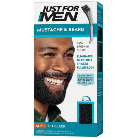 Just For Men Mustache & Beard, And Beard Coloring For Gray Hair Along With Brush Including