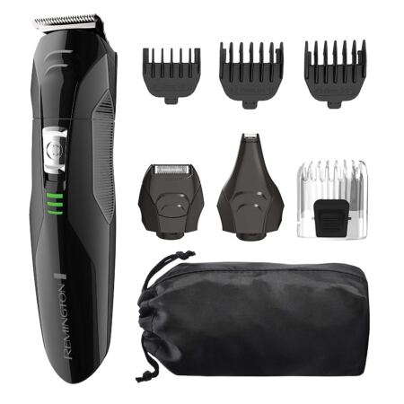 Remington PG6025 All In 1 Lithium Powered Grooming Kit, Beard Trimmer