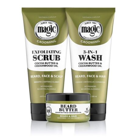 Softsheen Carson Magic Men's Grooming Conditioning Beard Butter With Cocoa Butter And Cedarwood Oil