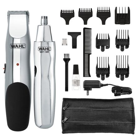 WAHL 5622 Groomsman Rechargeable Beard, Mustache, Hair & Nose Hair Trimmer