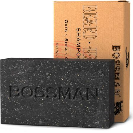 Bossman Men's Bar Soap 4 In 1 – Functions As Beard Wash Shampoo