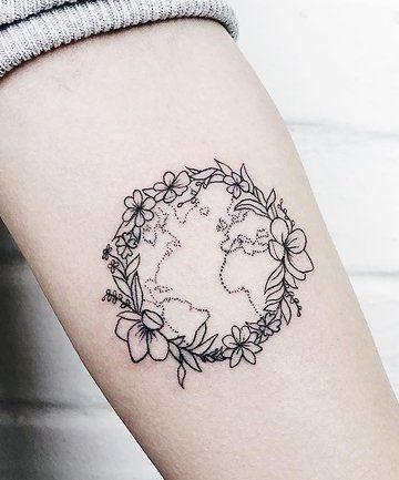 Earth Tattoo Ideas 9