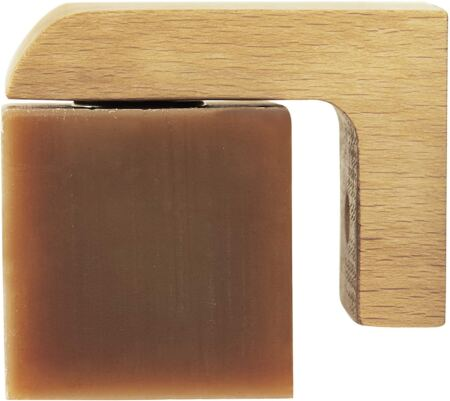 Professor Fuzzworthy Wood Air Dry Magnetic Soap Holder In Shower Storage For Soaps & Beard Shampoo Bars