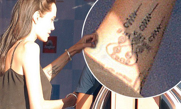 Buddhist Swirls Angelina Jolie Tattoo