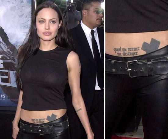 Cross Angelina Jolie Tattoo