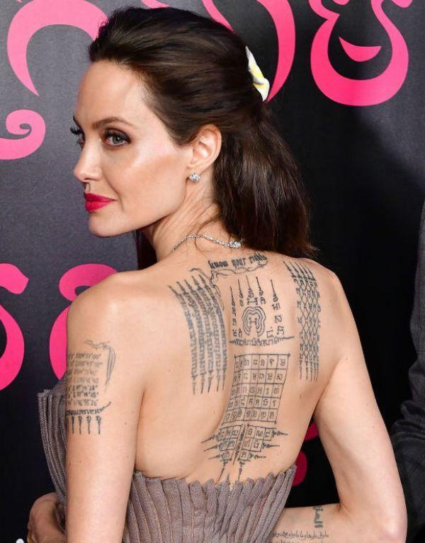 Diamond Armor Angelina Jolie Tattoo
