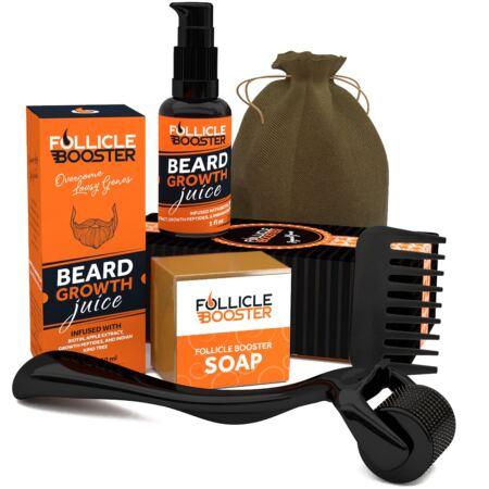 Follicle Booster Organic Beard Growth Kit