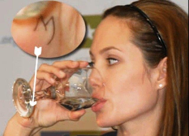 M Angelina Jolie Tattoo