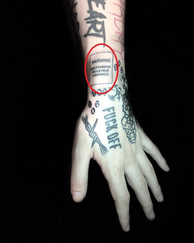 Lil Xan Overthinking Tattoos