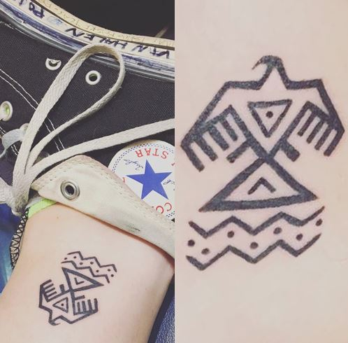 Paris Jackson Eagle Tattoos
