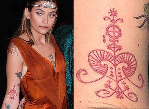 Paris Jackson Tattoos Veve