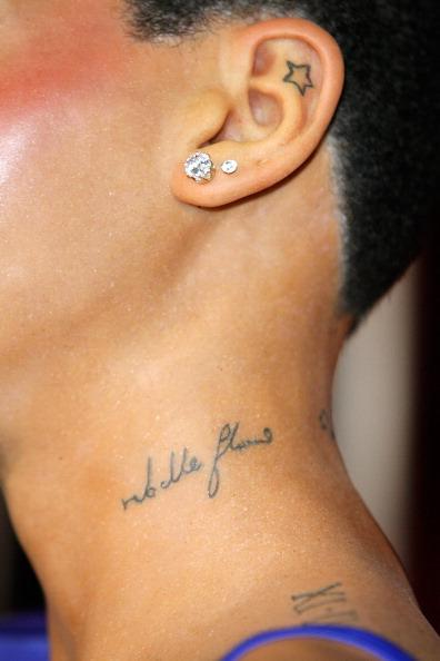 Rihanna Tattoos Rebelle