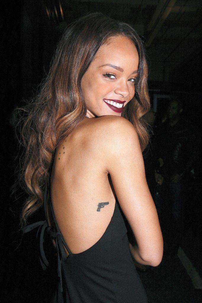 Rihanna Tattoos Gun