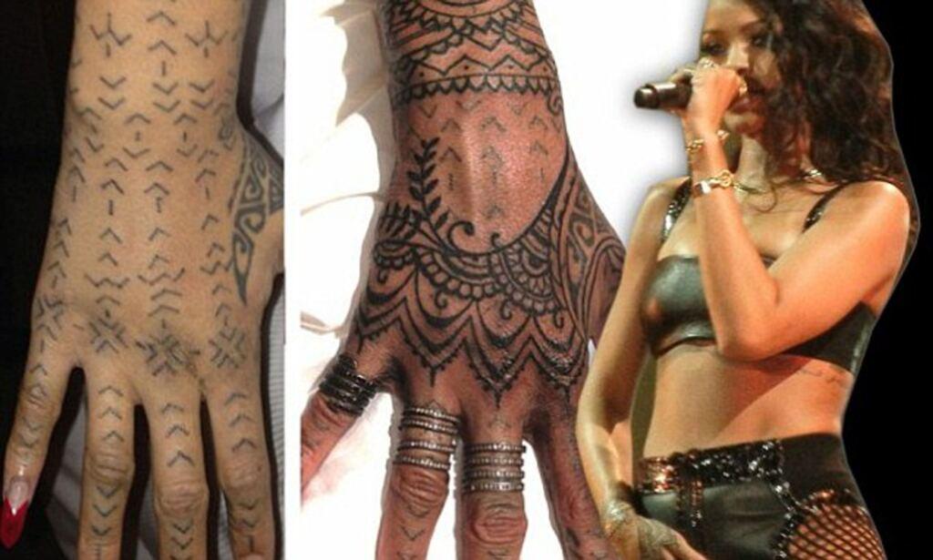 Rihanna Tattoos Tribal