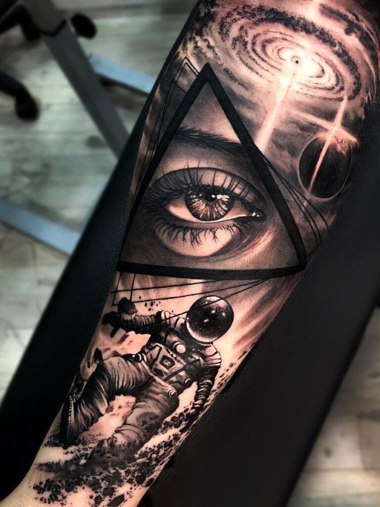 Space Tattoo Ideas 104