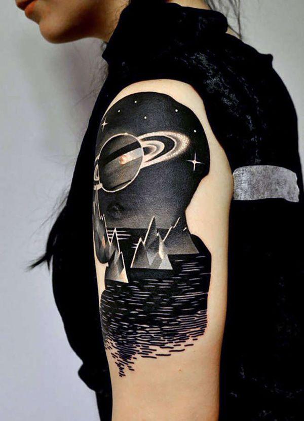 Space Tattoo Ideas 106