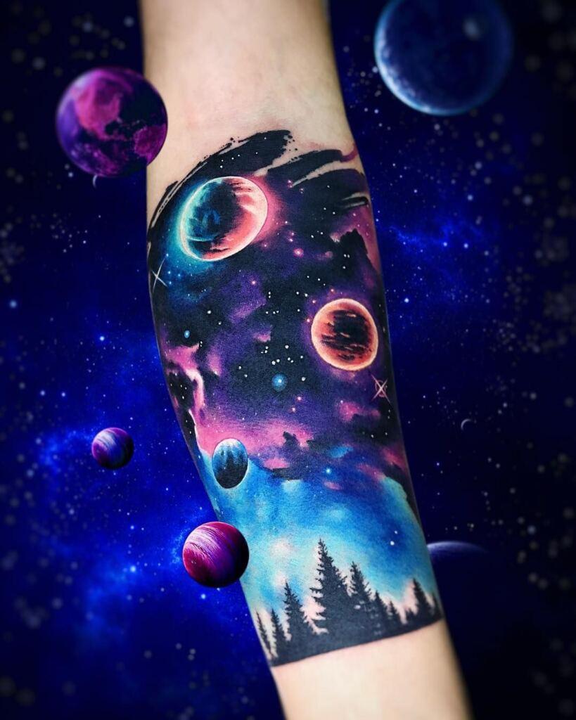Space Tattoo Ideas 67