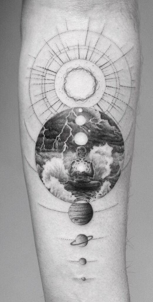Space Tattoo Ideas 78