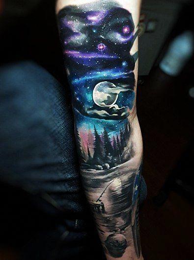 Space Tattoo Ideas 82