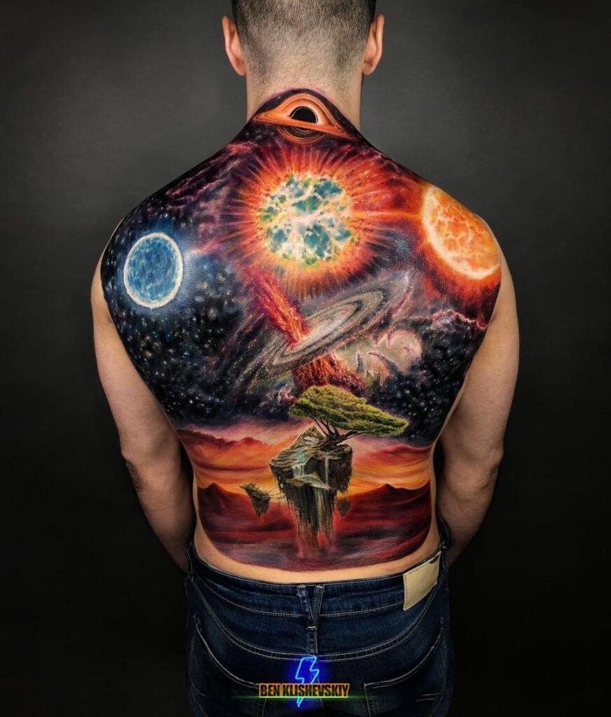 Space Tattoo Ideas 91