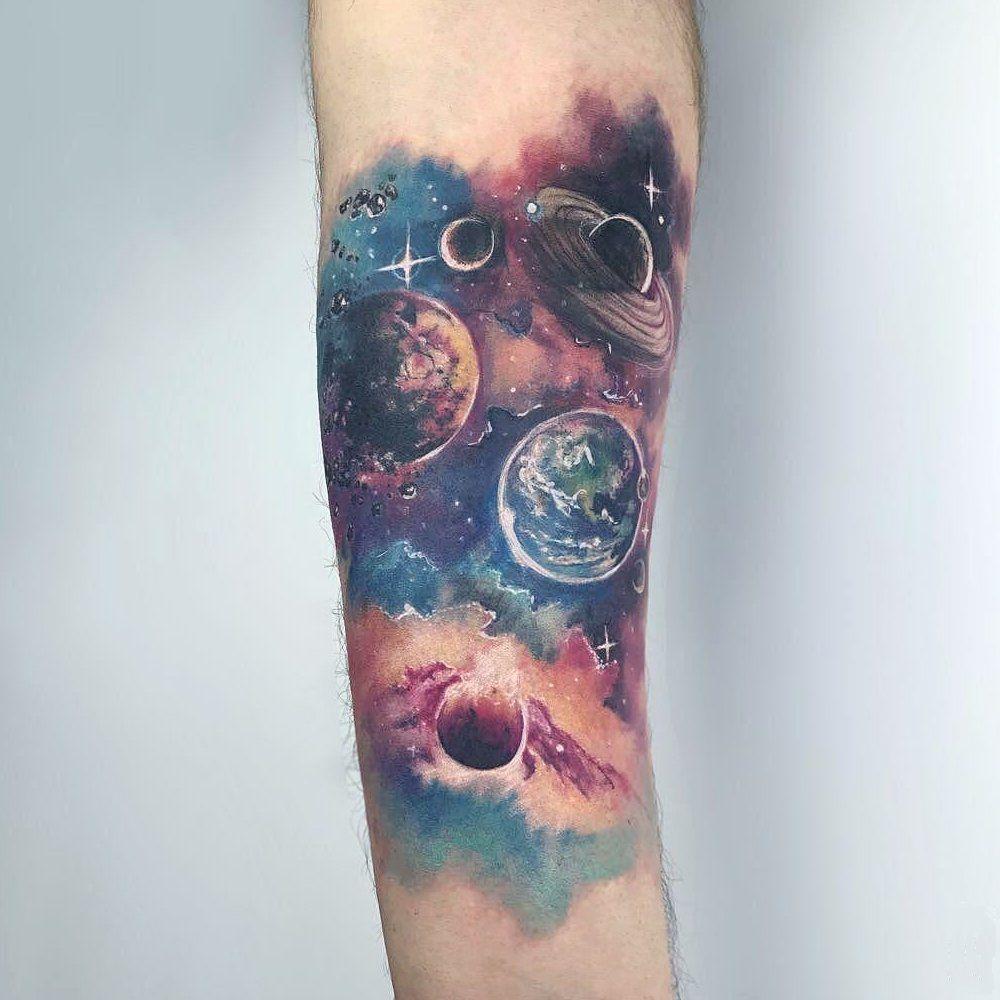 Space Tattoo Ideas 95