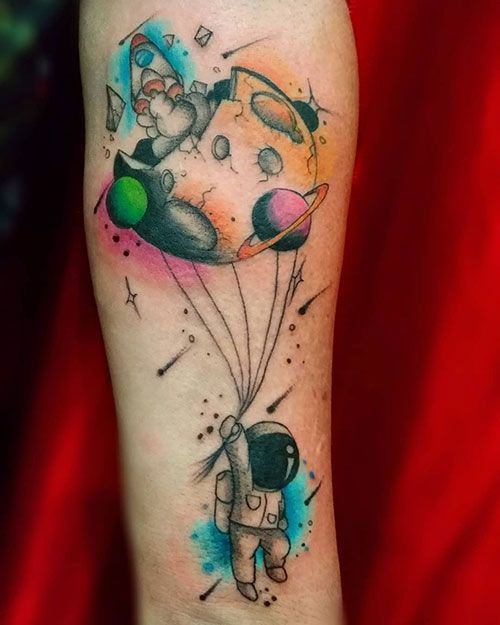 Space Tattoo Ideas 99