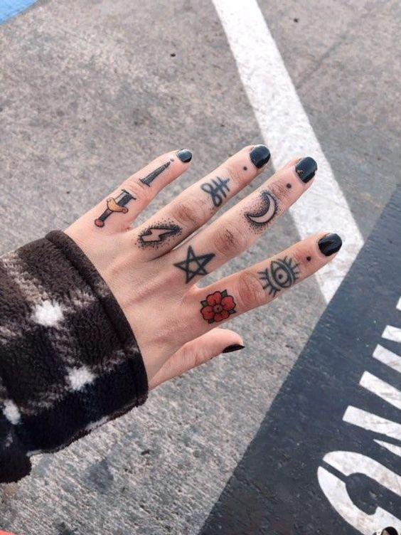 Knuckle Tattoos 108