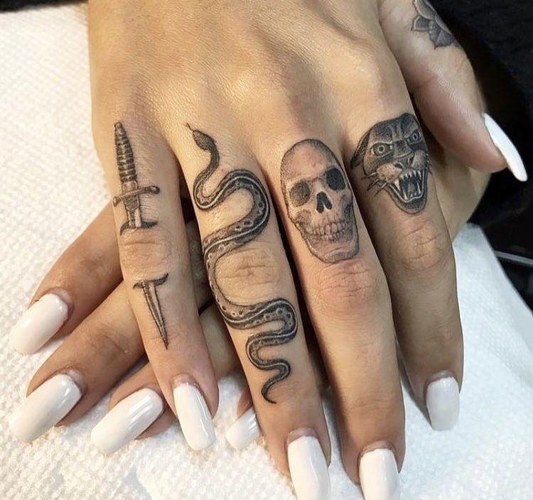 Knuckle Tattoos 115
