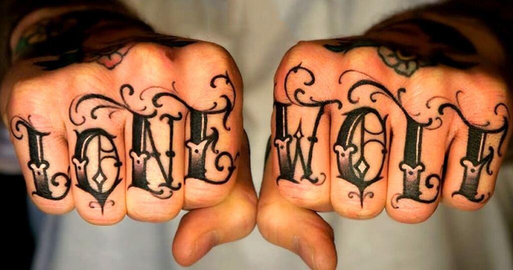 Knuckle Tattoos 132