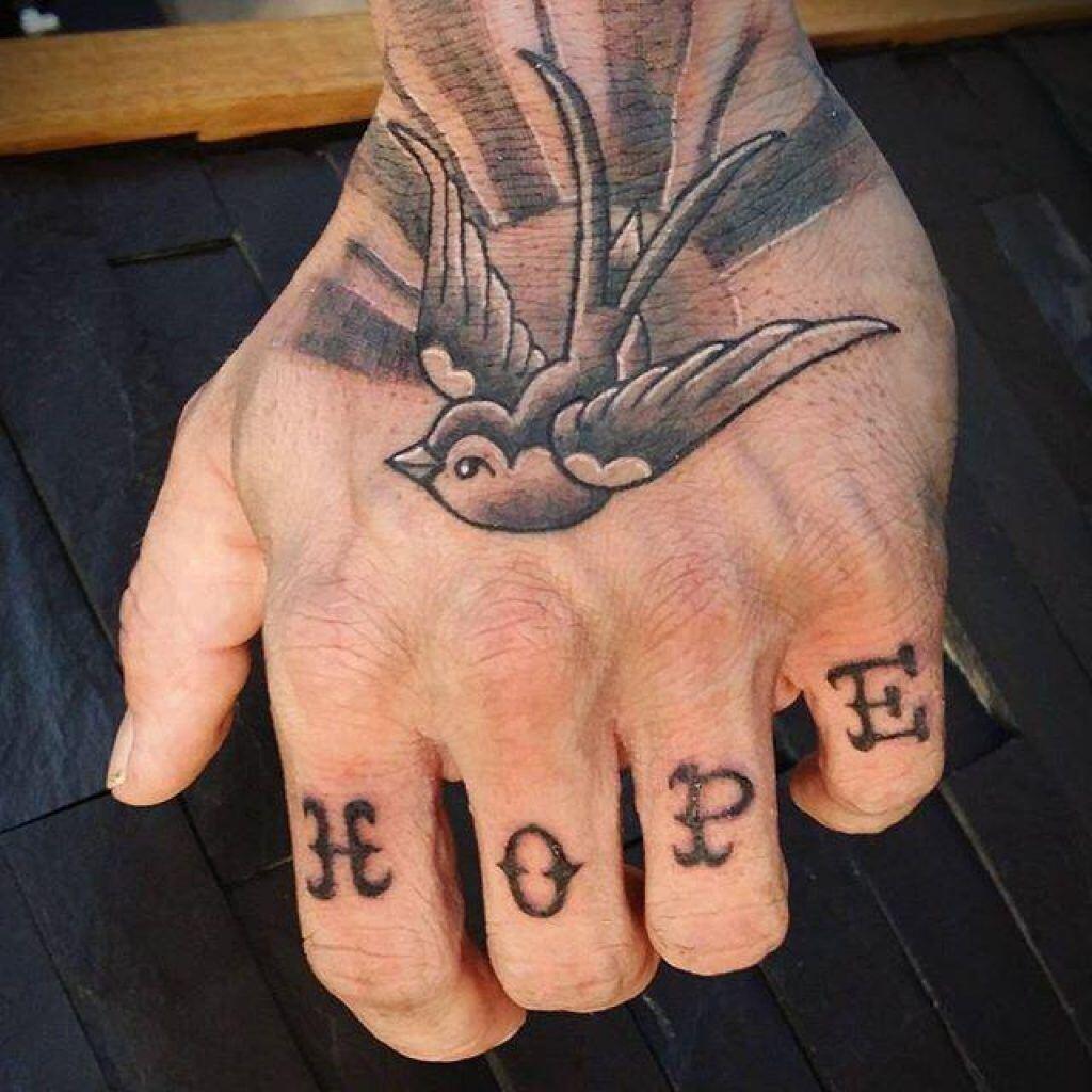 Knuckle Tattoos 141