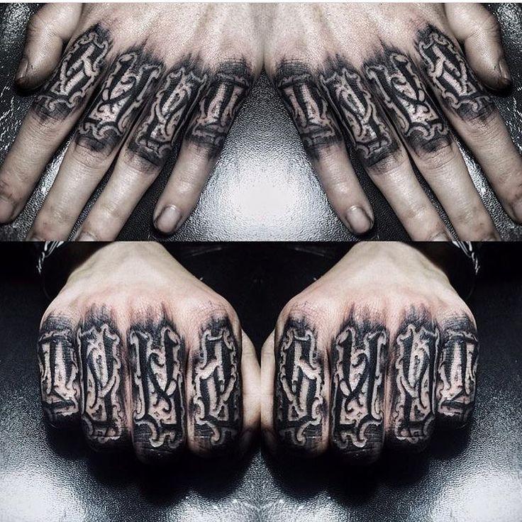 Knuckle Tattoos 146