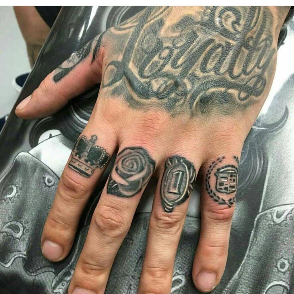 Knuckle Tattoos 151