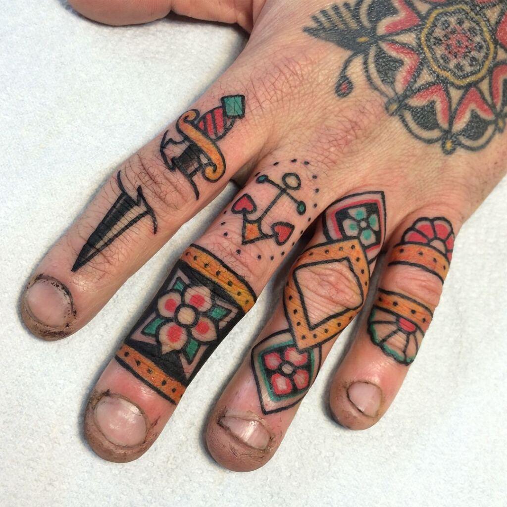 Knuckle Tattoos 154