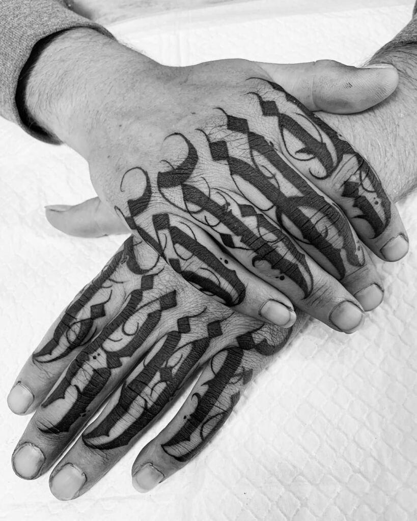Knuckle Tattoos 155